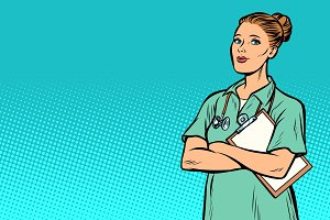 pop art nurse. Medicine and health
