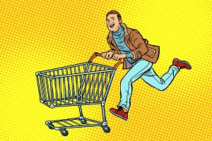 men are on sale. shopping cart shop