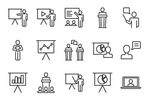 Presentation icons set
