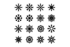Snowflake winter set collection