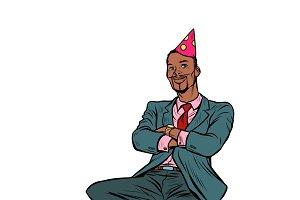 pop art Afrikan businessman birthday