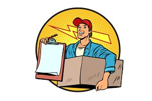 courier. Delivery of parcels and