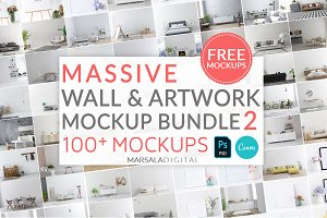 Massive Wall & Frame Mockup Bundle 2