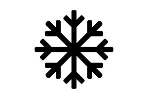 Snowflake icon or logo. Christmas
