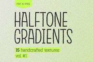 Halftone Gradients Vol.#1