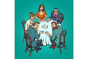 occult seance, people at the table