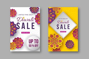 Sale poster or banner for festival
