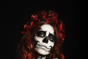 Girl with calavera (muertos) makeup