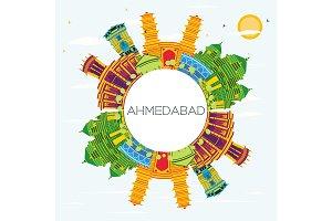 Ahmedabad India City Skyline