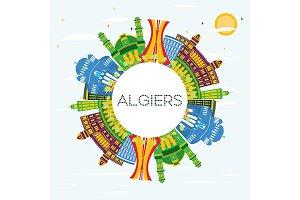 Algiers Algeria City Skyline