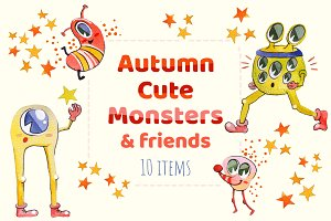 Autumn Cute Monsters