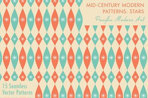 Mid-Century Modern Patterns: Stars