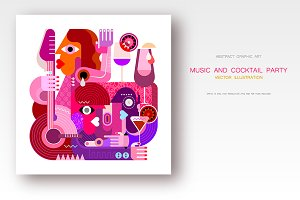 Music and Cocktails vector artwork