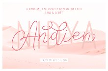 Andien Nidya - Script & Sans by  in Script Fonts