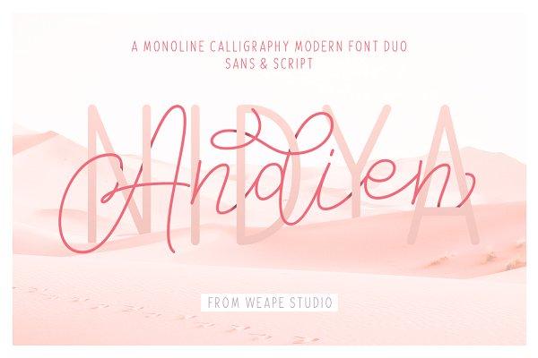 Script Fonts: Weape Design - Andien Nidya - Script & Sans