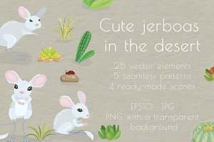 Cute jerboas