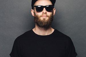 Hipster handsome man