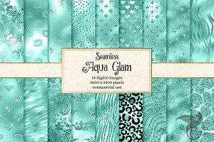 Aqua Glam Textures
