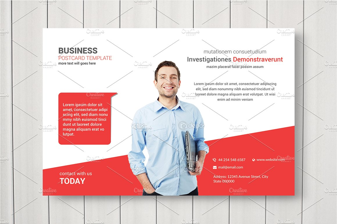 Business postcard template card templates creative market fbccfo Gallery