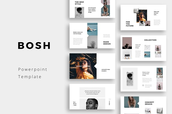 Presentation Templates: PixaSquare - BOSH - Powerpoint Template