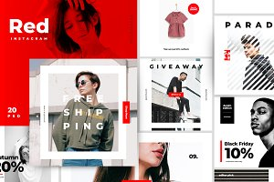 The Red - Instagram pack