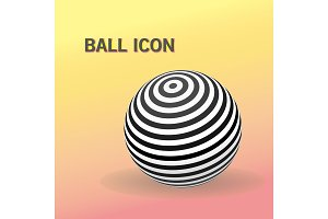 Striped ball logo