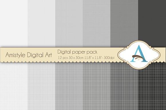 Linen - Grey - Digital Papers