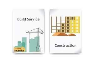 Construction vector banner