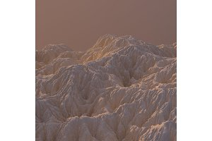 3D Illustration sandy Mountain