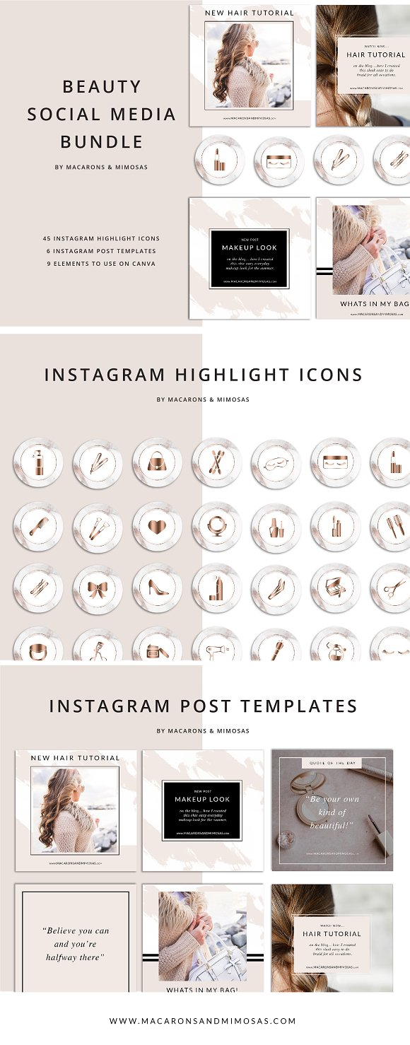 45 Beauty Instagram Highlight Icons
