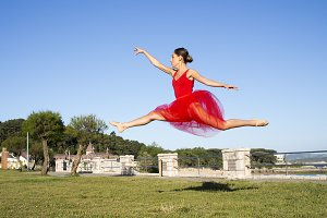 ballet dancer outdoors