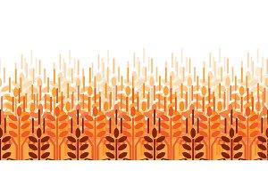 Wheat ears pattern. Vector