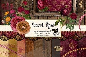 Desert Rose Digital Scrapbook Kit