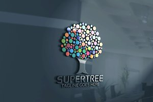 Super Color Tree Logo