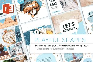 Playful Shapes Instagram Post Powerp