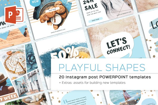 Instagram Templates - Playful Shapes Instagram Post Powerp
