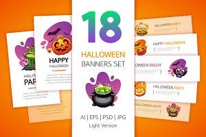 Halloween Banners Set Light Version
