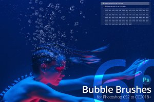 60 Bubble Brushes for Photoshop