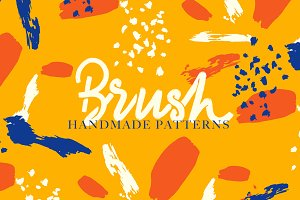 Handmade Seamless Brush Patterns