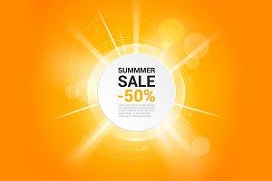 Summer sale vector banner