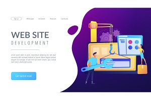 WEB development concept vector