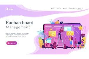 Kanban board concept vector