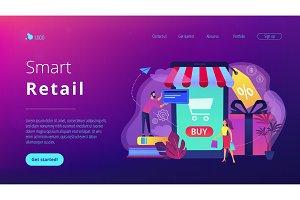 Smart retail in smart city concept