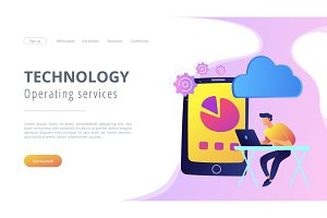 Cloud management concept vector