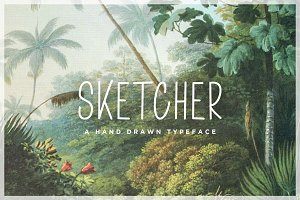 Sketcher Font - Hand Drawn Typeface