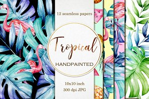 12 Tropical seamless papers