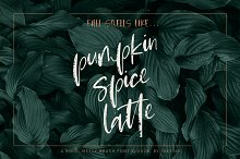 Pumpkin Spice Latte | Brush Script