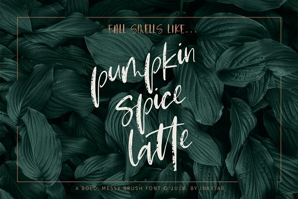 Script Fonts: Inky Jar Design Studio - Pumpkin Spice Latte | Brush Script