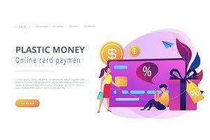 Debit card concept vector