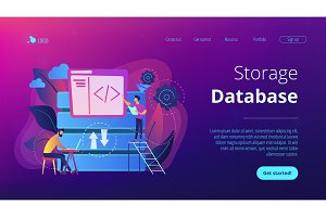 Big data developer concept vector